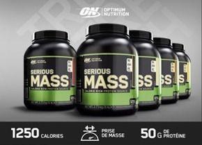 Protéines gain de masse musculaire