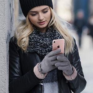 Gants tactiles d'hiver pour femmes