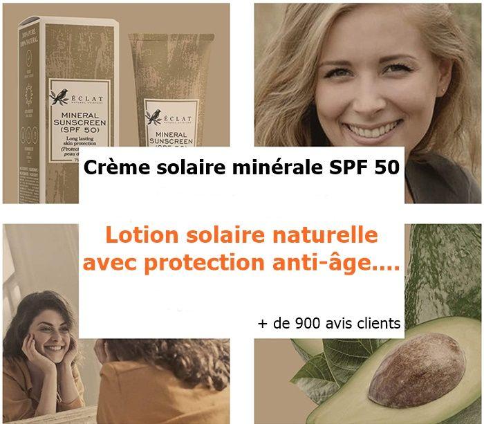 Crème solaire minérale
