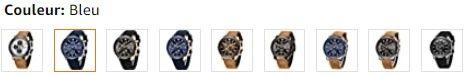 Montre chronographe à quartz, couleurs