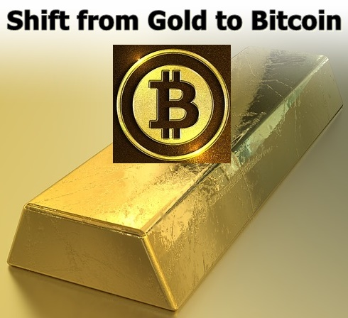 Shift from gold to bitcoin: